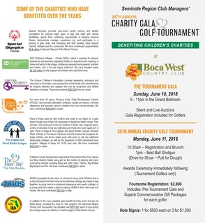 Seminole Region Club Managers' 28th Annual Charity Gala & Golf Tournament