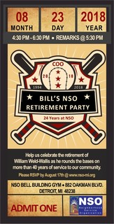 Bill Weld-Wallis NSO Retirement Party