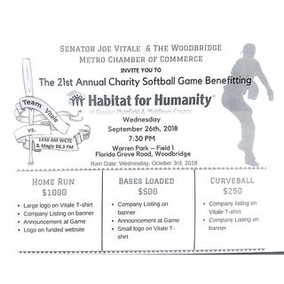 Senator Vitale's Softball Game 2018