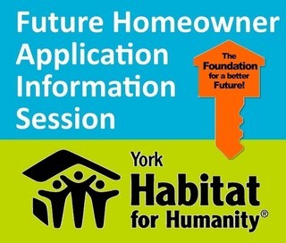 Homeowner Application Info Session - October 11th 1-3 pm