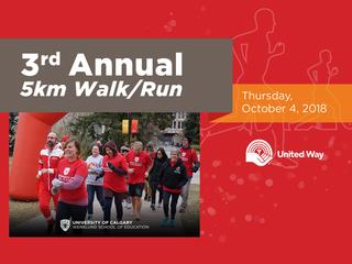 2018 3rd Annual 5km Walk/Run by Werklund School of Education at UCalgary