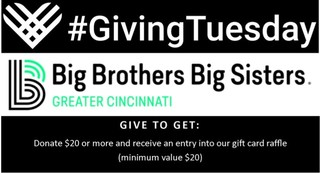 Giving Tuesday 2018 benefiting Big Brothers Big Sisters of Greater Cincinnati