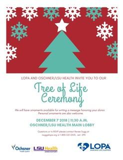 Tree of Life Ceremony at Oschner/LSU Health - Shreveport