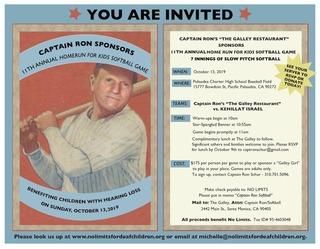 Captain Ron's Home Run for Kids Softball Game 2019