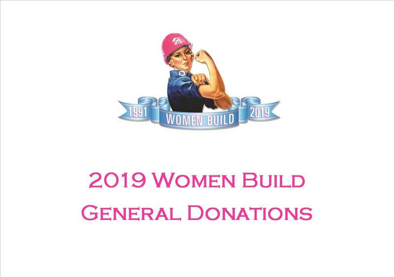 2019 Women Build General Donation