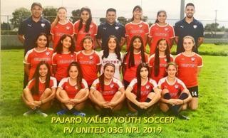 PV United 03 Girls