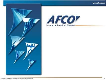 AFCO Premium Finance