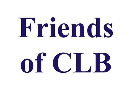Friends of CLB