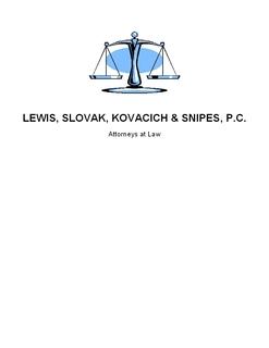 Lewis, Slovak, Kovacich & Snipes, P.C.