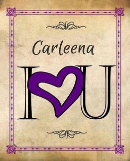Carleena I Heart U Fundraising