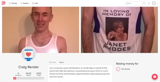 Fighting Cancer: Craig is running the Leeds half marathon