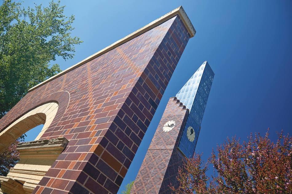 Bell tower banner