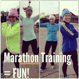 Marathon training girls