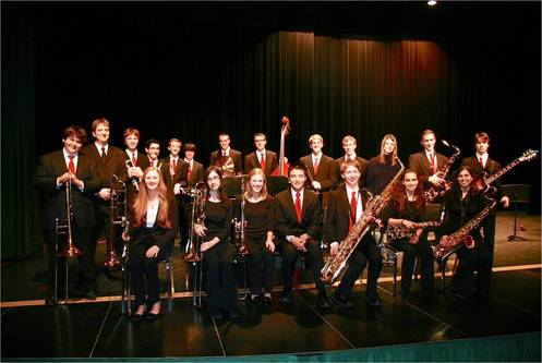 Jazz band group photo 2012