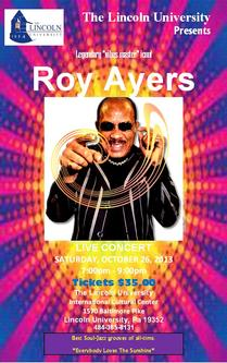 Roy ayers concert flyer