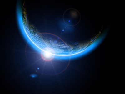 Earth globe space flyer photo