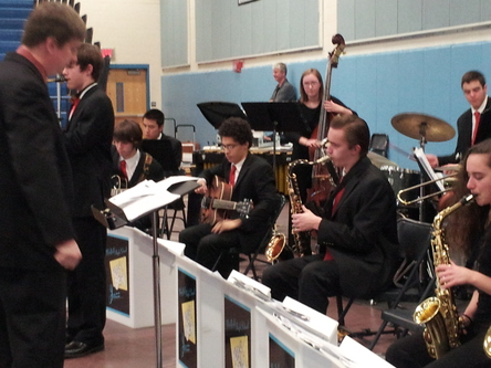Jazz band at town meeting march 10