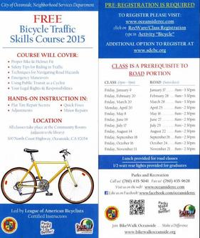 2015 bike traffic skills class flyer