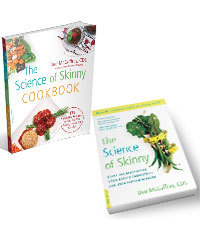 The science of skinny book and cookbook 3d cover