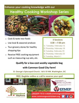 Healthy cooking workshop flyer