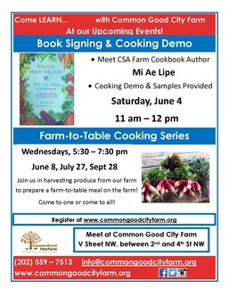 Seed to table cooking workshop flyer