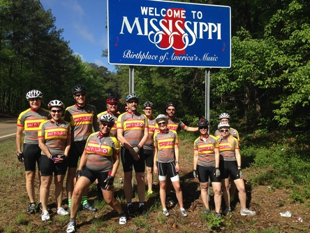 Riders at Mississippi Line