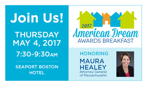 Join Us May 4th for Habitat's 2017 American Dream Awards Breakfast