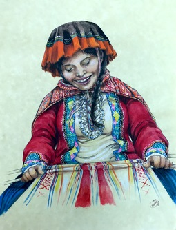 Maria peru woman art for gala