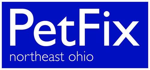 Petfix logo white bluebgd