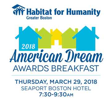 Join Us March 29th for Habitat's 2018 American Dream Awards Breakfast
