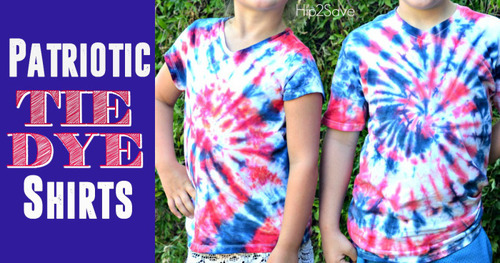 Easy tie dye patriotic tshirts by hip2save com