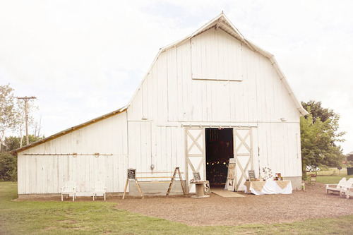 Rustic white barn