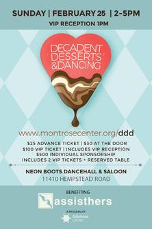 Decadent Desserts & Dancing 2/25