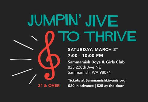 Jumpin' Jive To Thrive, Saturday March 2nd