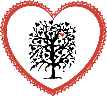 Old fashioned heart graphic