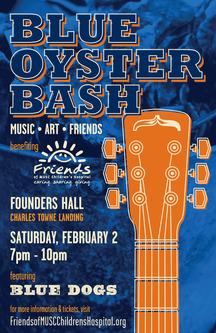 Blue oyster bash poster