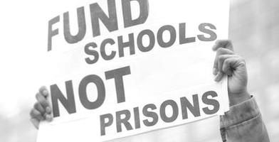 Schools notprisons bw cropped horizontal