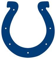 Colts horseshoe blue