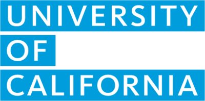 Uc wordmark block fill blue