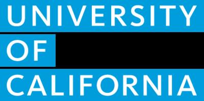 Uc wordmark block fill blue