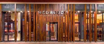 Redwood facade