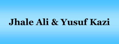 Ali  jhale   yusuf kazi