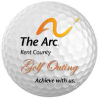 Arc golf ball logo achieve
