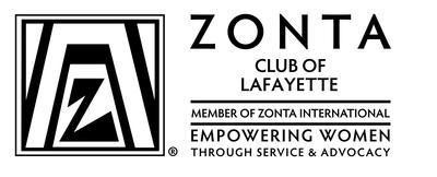 Zonta club logo horizontal bw lafayette