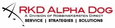 Rkd alpha dog logo  with tag 2color rkd logo