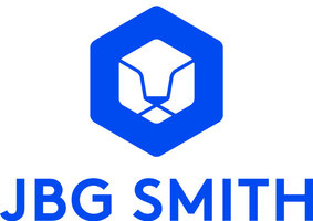 Jbg smith logo logo vertical trans blue