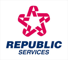 Republic services logo design branding 3
