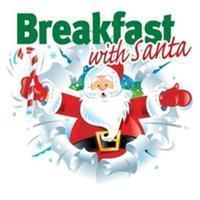 Breakfast with santa clip art