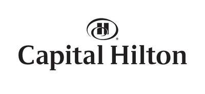 Black capital hilton logo