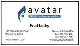 Avatar nj card